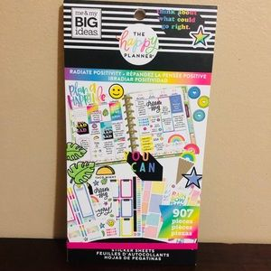 """the happy planner Stickers book """"Positivity""""907 pc"""
